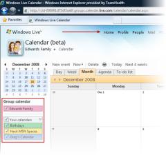 Windows Live Group Calendar