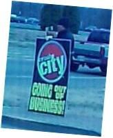 Street Corner Sign Waver