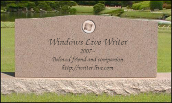 Windows Live Writer Tombstone