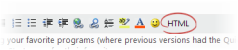 The discussion editor toolbar