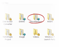 Public folders are easily identified by the small globe icon