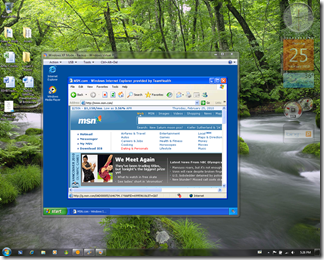 An XP image running in a VM on my Windows 7 desktop