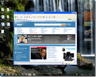 An IE6 window running on my Windows 7 desktop