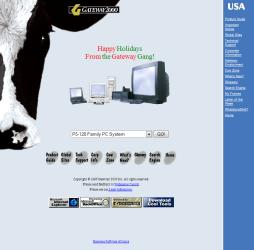 Gateway 2000 website, circa December 1996