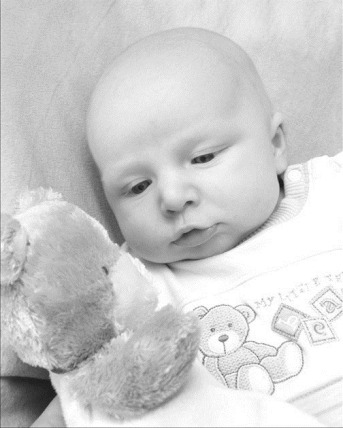 Aidan and his teddy bear
