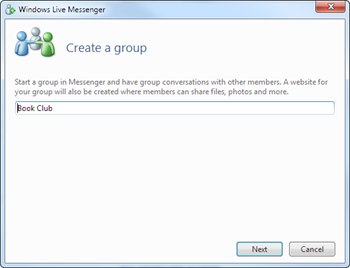 Creating a group in Messenger