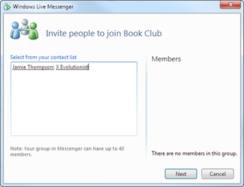 Inviting people to my new group